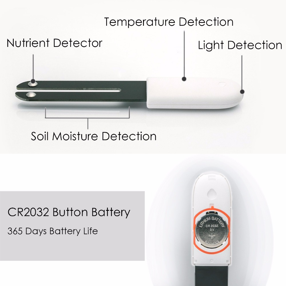Image 2 - International version Original Xiaomi Mi Flower Monitor Plants Soil Water Light Smart Tester For Xiaomi Flora Sensor Garden-in Smart Remote Control from Consumer Electronics