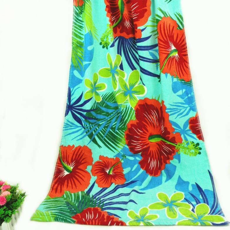 New Fashion Us Vosges Cotton Towels Hawaiian Hibiscus Palm
