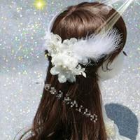 Fashion Head Flower Plumeria Lace Flower Hair Accessories White Hairpin Hairpin