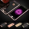 2 unids/lote frente + trasero de cristal templado para iphone 5 5s 6 6 s plus full cover protector de pantalla efecto espejo película protectora colorida