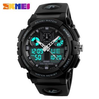 SKMEI Luxury Brand Men Sports Watches Digital Led Men Wristwatches 50m Water Resistant Relogio Masculino Quartz Watch For Man 2