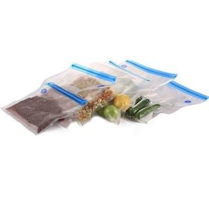 Image 1 - 5 Packs Vacuum Storage Bag Household Mini Airtight Transparent Vacuum Sealed Storage Bag Reusable Saving Space Seal Bags