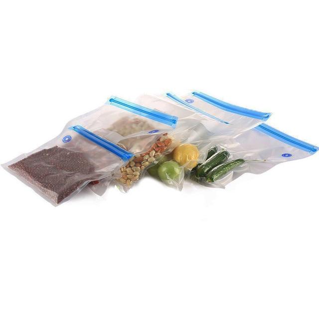 5 Packs Vacuum Storage Bag Household Mini Airtight Transparent Vacuum Sealed Storage Bag Reusable Saving Space Seal Bags