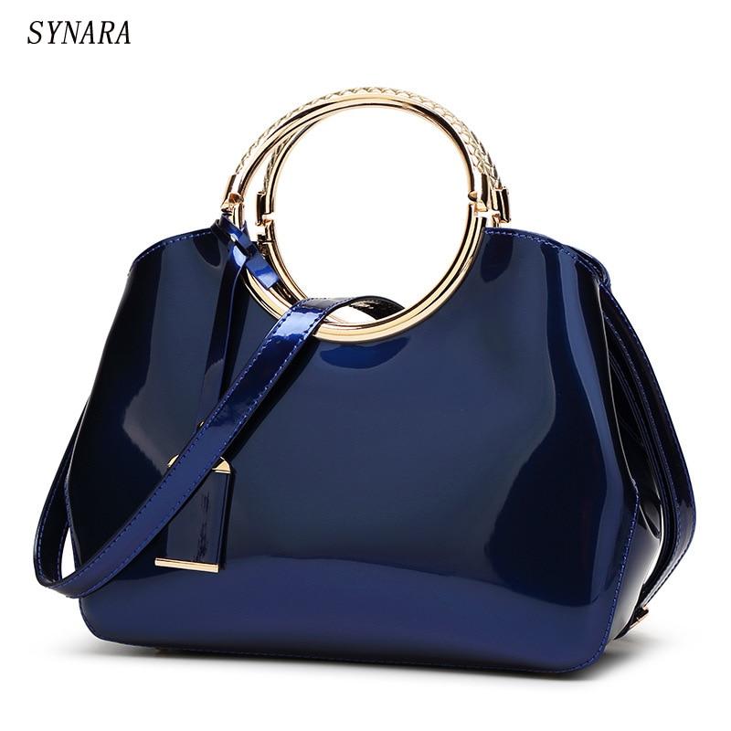 21eda4a67e31 Synara новые модные роскошные женские сумки сумка Искусственная кожа черный  seashell мешок известный дизайнер винтажная женская сумка