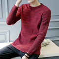 Amazon Quality Drop Shipping 2016 New Fashion Winter Pullover Sweater Men O-Neck Knitted Sweater Trend  Mens Sweaters Pullovers