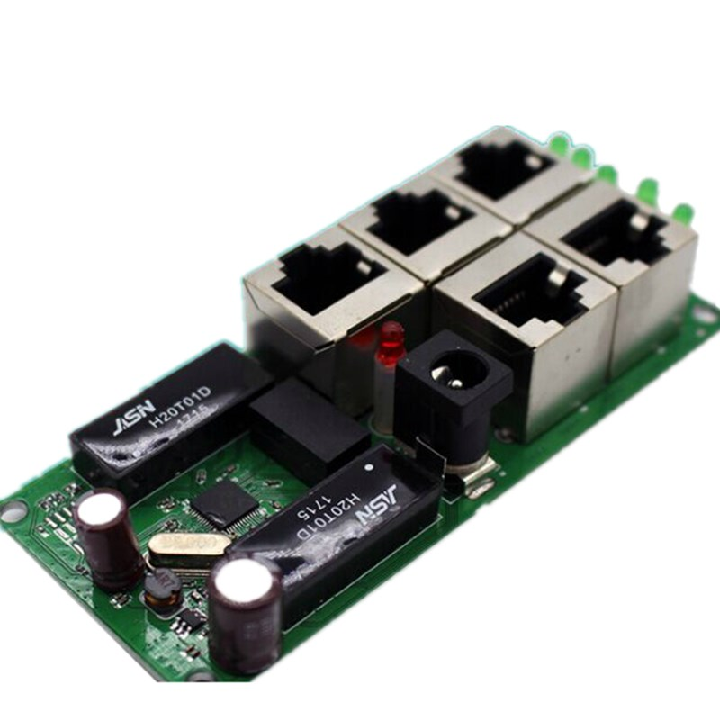US $18 41 26% OFF|ANDDEAR mini Motherboard price 5 port switch module  manufaturer company PCB board 5 ports ethernet network switches module-in