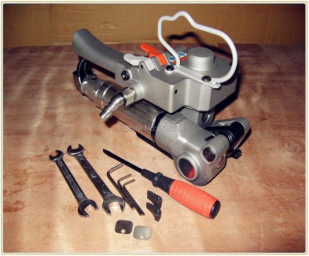 100% naujas rankinis pneumatinis plastikinis plastikinis plastikinis PP PET surišimo įrankis XQD-25, 19-25 mm PET juostos pakavimo aparatas (įtempimas> = 3000N)