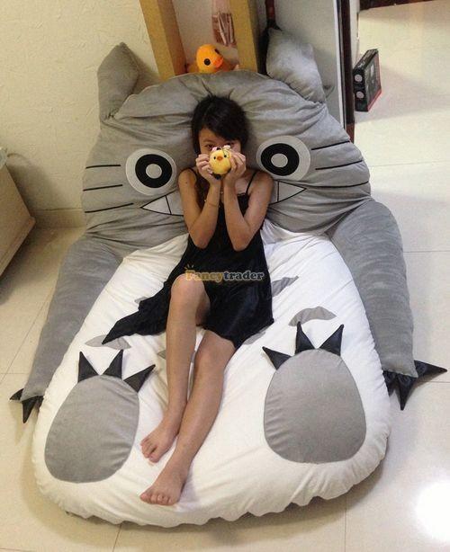 Fancytrader 190cm X 130cm Super Cute Huge Giant Totoro Bed Tatami Carpet Sofa Free Shipping FT90191 (1)