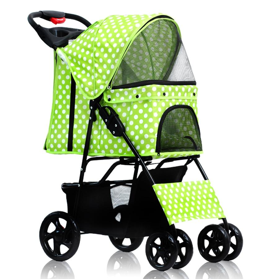 Portable folding dog cat stroller ,pet strollers four