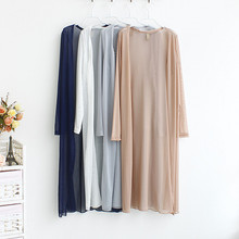 New 2019 Summer Style Women Casual Loose Long See-Through Mesh Tops Sheer Open Cardigan Solid Shirts Coat Jacket Beach Wear D155