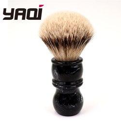 Yaqi 24MM brocha de afeitar tejón de punta de plata
