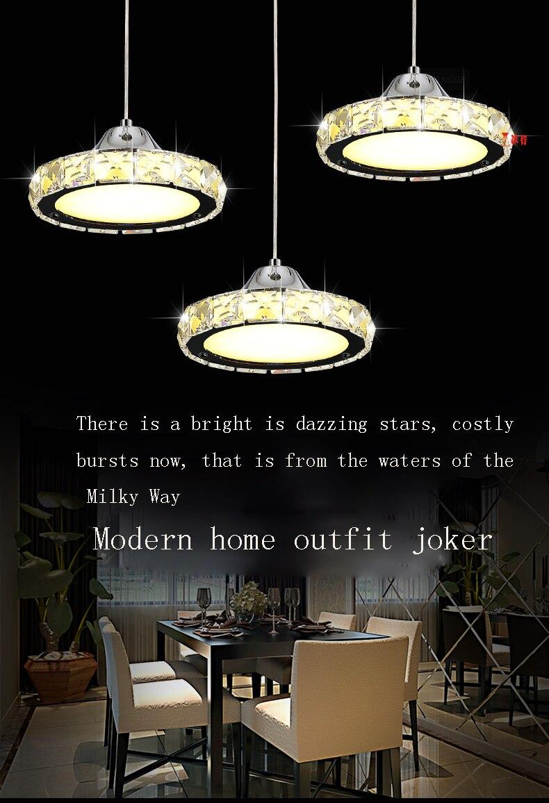 цена на LED Crystal Chandelier Light for Aisle Porch Hallway Stairs Crystal Ring dining light wth LED Light Bulb 8 Watt 100% Guarantee