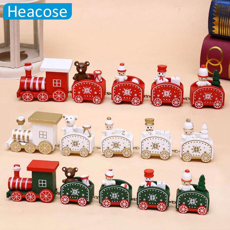 New christmas train painted wood christmas decoration for for New home christmas decoration