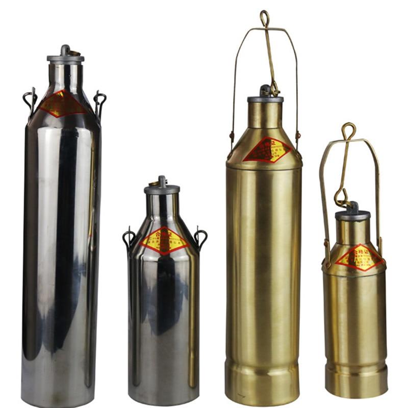 1000 ML Ağır Yağ Örnekleyici Kömür Katranı Bitüm Örnekleyici Petrol Bitüm Şişeleri Örnek Kova Asfalt Örnek Şişesi