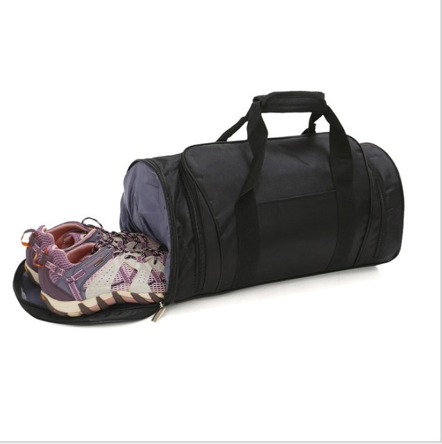 Waterproof professional big sports gym bag with pocket shoes / outdoor women's outdoor Fitness training bag travel Yoga bag