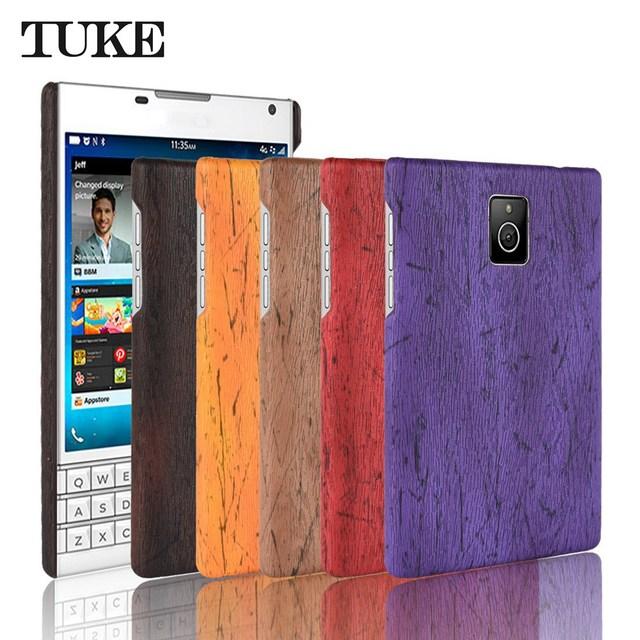 online store 23c12 b79a5 US $3.04 |TUKE Case For Blackberry Passport Q30 Leather Wood Grain Plastic  Back Cover For Blackberry Passport Q30 Housing Etui-in Fitted Cases from ...
