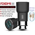 Nueva original xiaomi roidmi 2 s 5 v 3.8a bluetooth manos libres cargador de coche con reproductor de música fm transmisores para iphone 7 5S 6 6 s