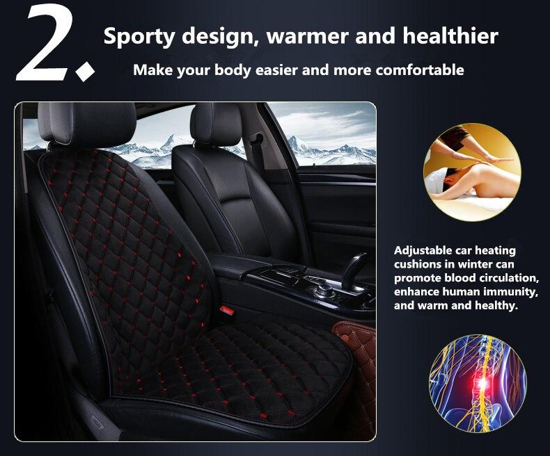 Winter Car Electric Heating Cushion Seat Short Plush Single And