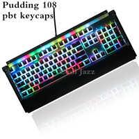 Doble disparo 108 teclas ANSI diseño PBT OEM perfil pudín doble piel retroiluminada Keycap para teclado mecánico para juegos MX interruptores