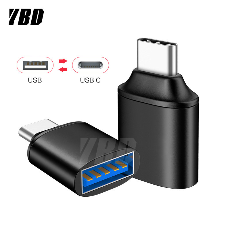 YBD USB C Adapter Type C 3.0 To USB 3.0 Adapter OTG Type C Cable For Macbook Pro Air Type C OTG For Samsung Huawei Xiaomi Redmi