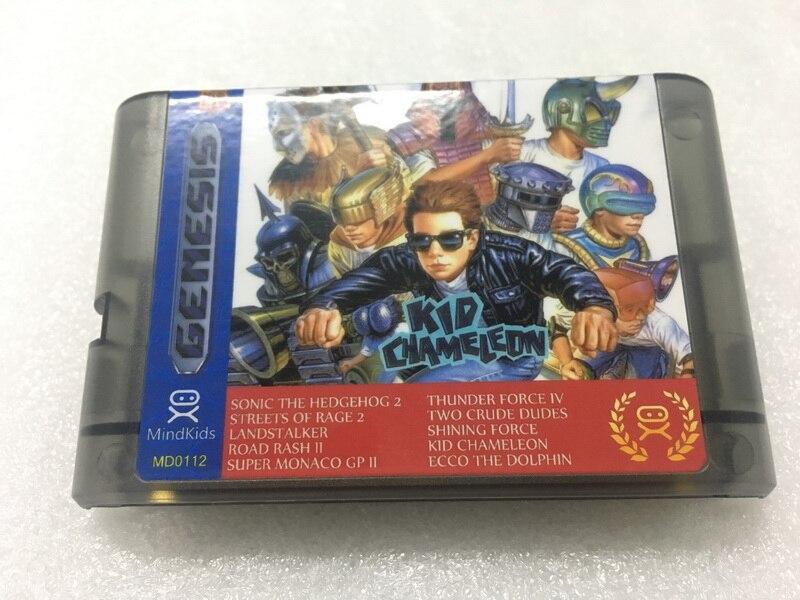 10 in 1 Game Cartridge 16 Bit MD Game Card for Sega Mega Drive for Sega Genesis