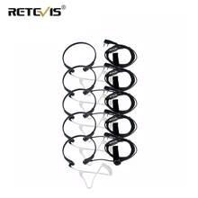 5 stücke Retevis Throat Mic Ohrhörer PTT Headset Walkie Talkie Zubehör Für Baofeng UV 5R UV-82 Für Kenwood Für TYT für Puxing
