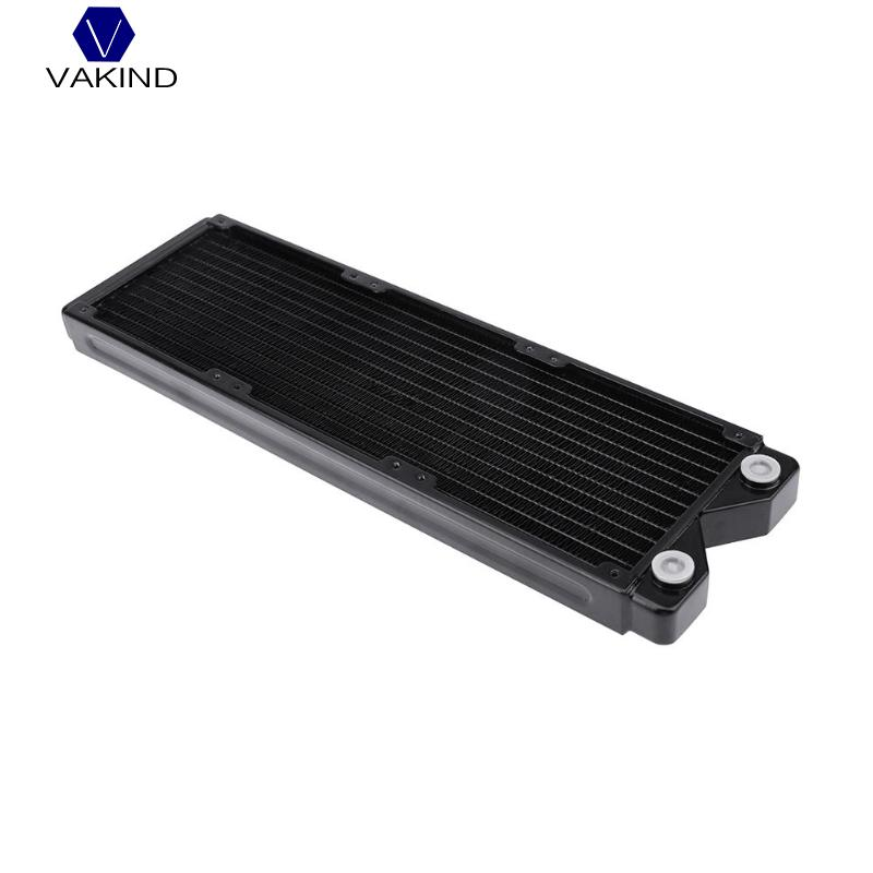 VAKIND Black 360mm Water Cooled Exchanger Water Cooling Heat Sink Heatsink Radiator For Computer PC Water Cooling System Parts full copper water cooling heatsink 2 5cm 1 ultrathin computer case water cooling cooler thread radiator heat sink exchanger