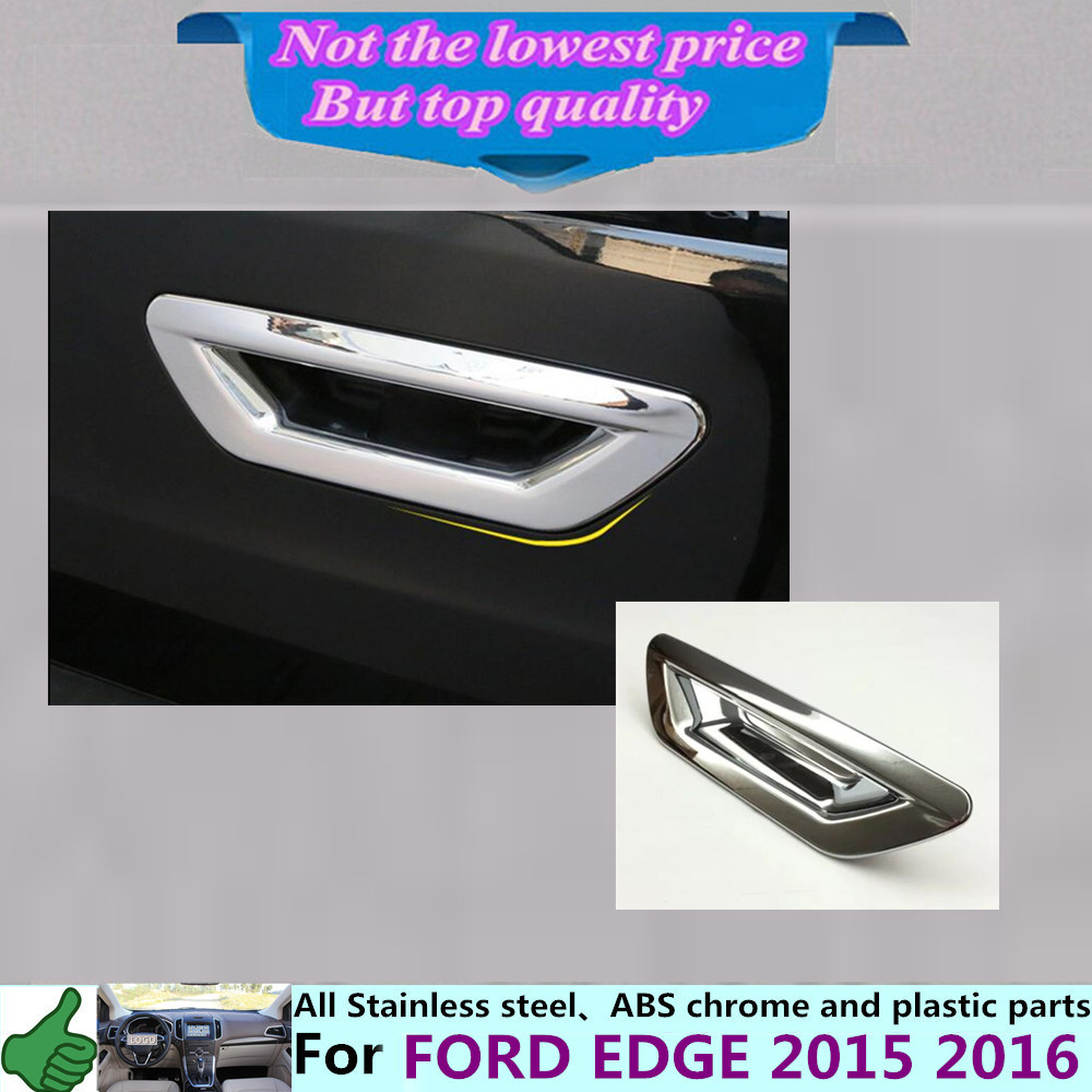 High quality cover detector stick frame trims abs chrome car tail rear door handle bowl lamp