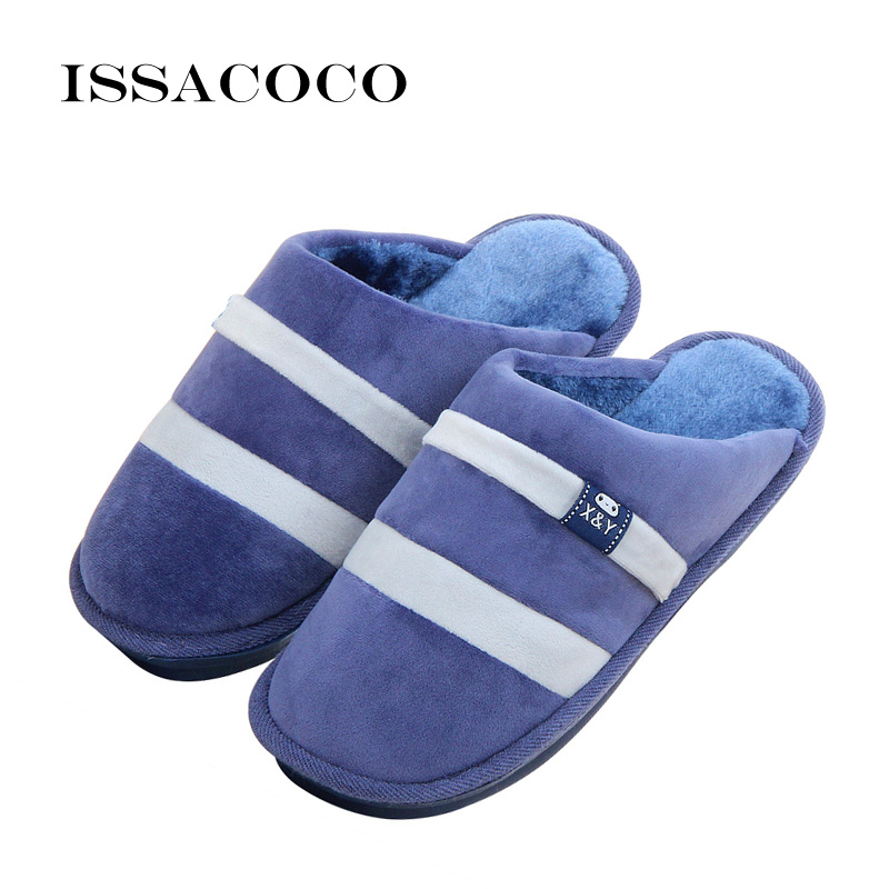 ISSACOCO Slippers Heren Winter Katoenen Slippers Heren Schoenen - Herenschoenen - Foto 1