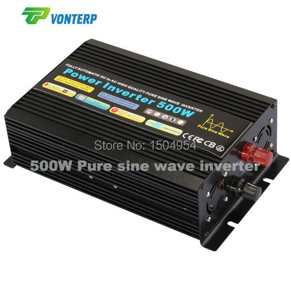 500W pure sine wave inverter 12Vdc to 220Vac  50hz ,off gird inverter 500w 12vdc 220vac pure sine wave inverter without ac charge home inverter