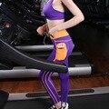 Новая Мода Женщина Фитнес Леггинсы Боковой Карман Тонкий Брюк Поглощают Тренировочные Брюки Случайные Высокой Талии Эластичные Леггинсы Для Женщин