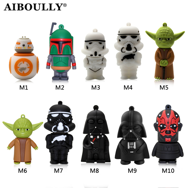 Usb Stick 4gb 8gb 16gb 32gb 64gb Flash Memory Stick Pendrive Mini Star wars USB Flash Drive Mini gift u disk For Tablet PC ...