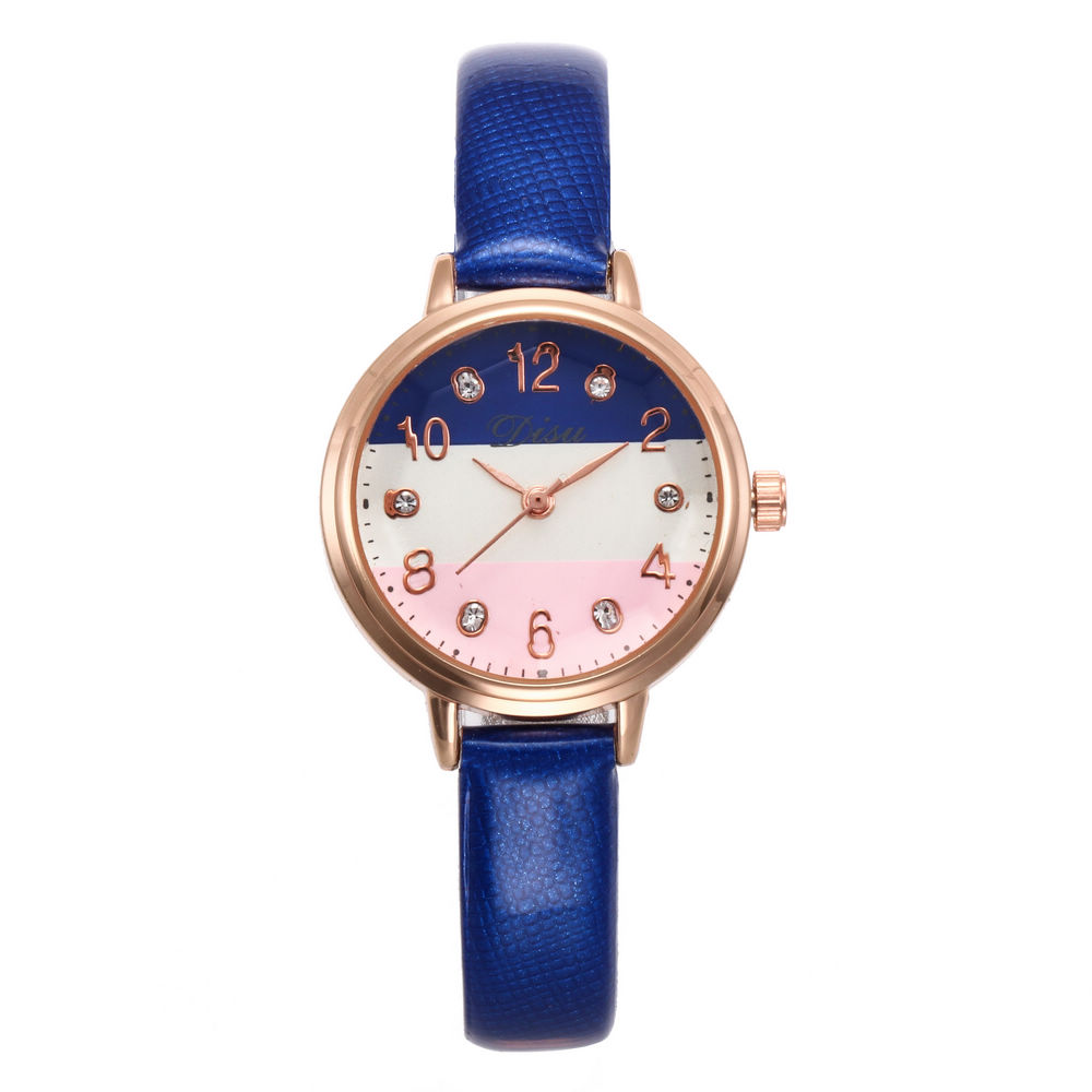 New Fashion Diamond Simple S Dial Leather Quartz Women Watches Ladies Femininity Wrist Watches Relogio Feminino Reloj Mujer
