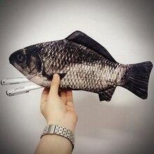 Damenmode Fisch Form Geldbörse Stift Handy Taschen Kupplung Veranstalter Brieftasche