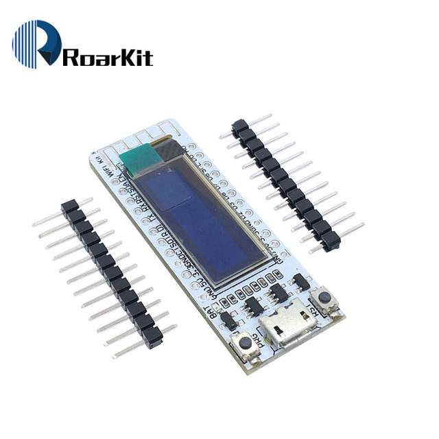 US $8 0 |Internet Development Board ESP8266 WIFI chip 0 91 inch OLED can  brush NodeMCU module for arduino-in Integrated Circuits from Electronic