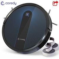 Coredy R650 1600PA Smart Robot Vacuum cleaner Auto Dust Floor Carpet Robotic Cleaning Rechargeable with 2pcs Boundary Strips