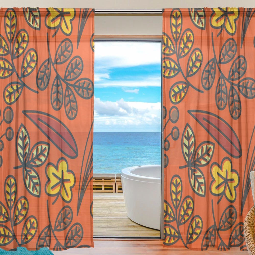 Orange Curtain Panels Buy Orange Curtain Panels And Get Free Shipping On Aliexpress