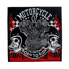цена born to ride large backing Embroidered Applique Sewing Label punk biker Patches Clothes Apparel Accessories Badge онлайн в 2017 году