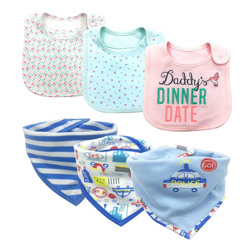 Baby Bibs Bandana 100% Cotton Drool Bib Child Boys &Girls Triangle Bibs Bandana Infant Towel