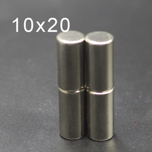 2/5/10/20Pcs 10x20 Neodymium Magnet 10mm x 20mm N42 NdFeB Round Super Powerful Strong Permanent Magnetic imanes Disc 10x20 48pc 2 5kg pulling ndfeb magnet dia 10mm 12mm and 16mm magnetic pots with thread neodymium permanent strong holding magnet