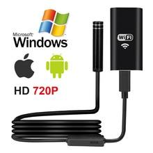 1 10M Wifi endoskop HD 720P 1.3MP 8mm Wifi endoskop Iphone Android 720P kamera endoskopik android iOS borescope kamera