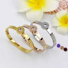 fashion women Rome digital h cuff bangle BVL with 4 colors cz diamond adjust 18K rose Gold plated Bracelet for women Jewelry
