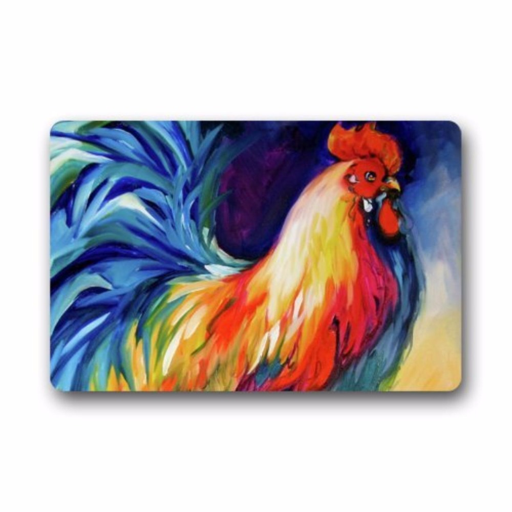 Fantastic Doormat Colorful Rooster Art Door Mat Rug Indoor/Outdoor/Front  Door/Bathroom Matsu0026pound;u0026not;Bedroom Carpet Doormat 23 In Mat From Home U0026  Garden ...