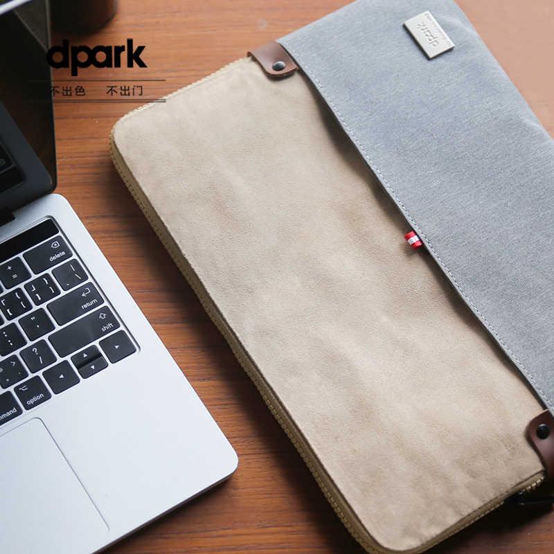 Dpark מקרי מחשב נייד Mens מחברת פנימי תיק שרוול כיסוי פאוץ עבור 12 13 14 15 מחשב נייד אינץ נשיאת שקיות