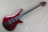 Accept Custom Any Wood Any Style Electr Electric Guitar Bass Guitarra 4 String Picea TP Basswood DIY Red Circle