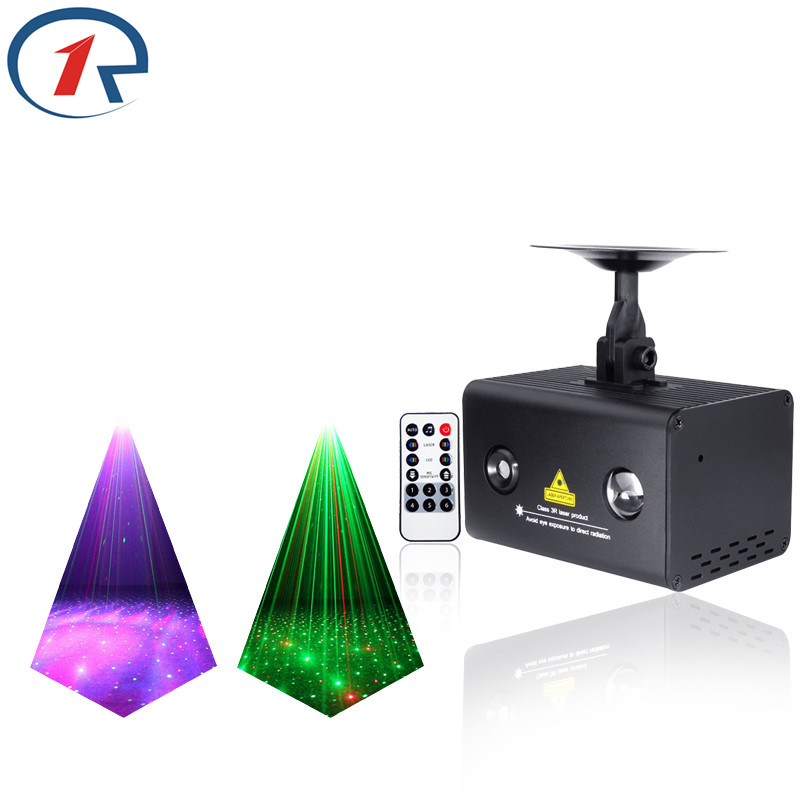 ZjRight IR Remote Red Green Blue Laser Light colorful effect LED Stage Light Colorful Galaxy Meteor Light KTV bar dj disco Light