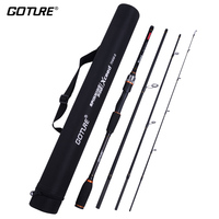 Goture Xceed Spinning Casting Carbon Fishing Rod 3.0M 2.7M 2.4M 2.1M 1.98M Light 4 Sections Travel Rods with Portable Bag