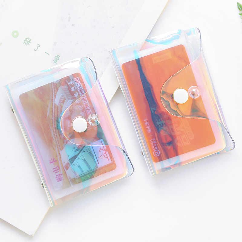 Transparan Pemegang Kartu Kredit Kartu Wanita Case Organizer Dompet Fashion PVC Paspor Kartu Cover 20/36 Bit Kartu tas