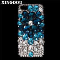 For Iphone 6 Case Bling Crystal Diamond Flower Handmade DIY Cover Case For Iphone 7 7Plus