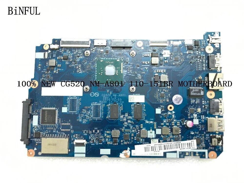 BiNFUL STOCK ,CG520 NM-A801 FOR LENOVO 110-15IBR  LAPTOP MOTHERBOARD , PROCESSOR N3060, 2gb Ram.(qualified Ok)